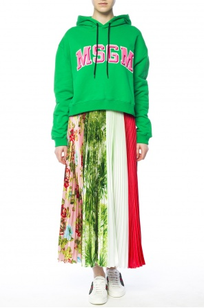 Patterned pleated skirt od MSGM