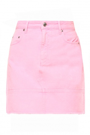 Raw-trimmed denim skirt od MSGM