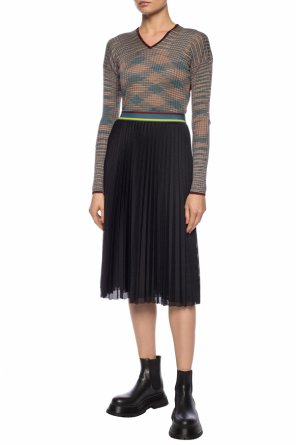 Pleated skirt with perforations od M Missoni