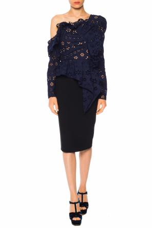 Cut-out pencil skirt od Alexander McQueen