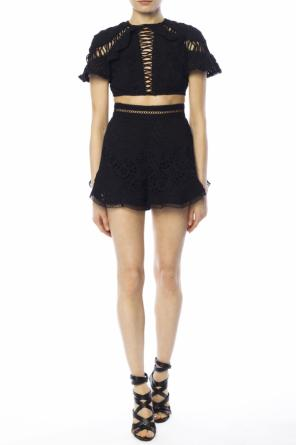 High-waisted lace shorts od Zimmermann