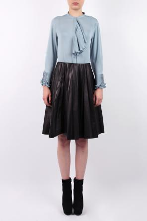 Leather pleated skirt od Gucci