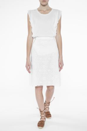 Lace-trimmed skirt od Burberry