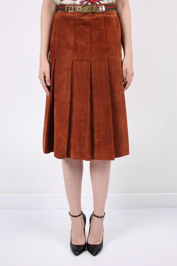 eff4e7941 Pleated suede skirt Gucci - Vitkac shop online