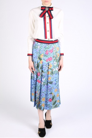 Patterned pleated skirt od Gucci