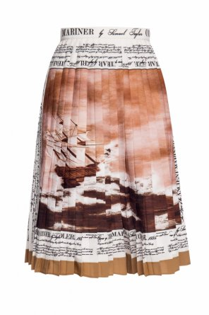 Pleated skirt with logo od Burberry