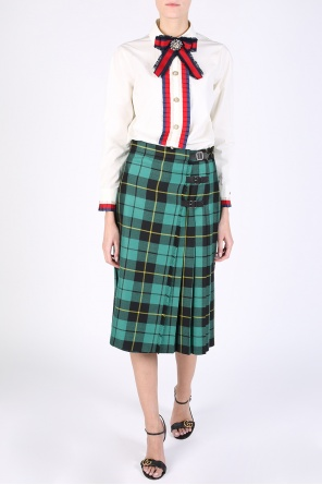 Checked pleated skirt od Gucci