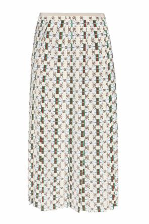 'web kisses' printed pleated skirt od Gucci
