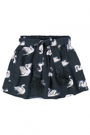 Swan motif skirt od Stella McCartney Kids