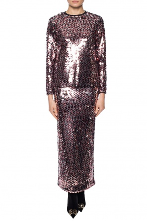 Sequinned skirt with vent od McQ Alexander McQueen