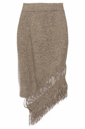Asymmetrical skirt with fringes od Stella McCartney