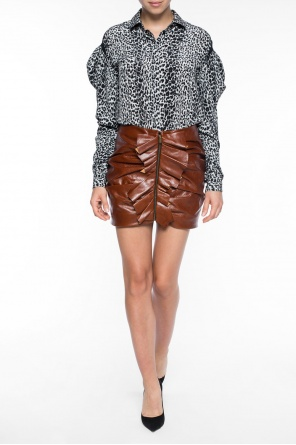 Leather skirt od Saint Laurent Paris