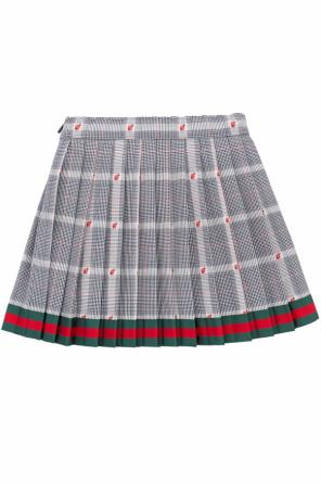 Pleated checked skirt od Gucci Kids