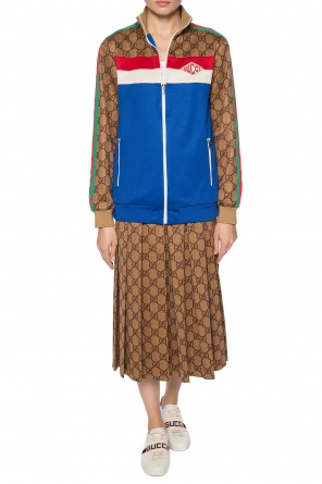 Pleated skirt with logo od Gucci