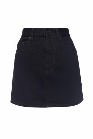 Denim skirt with decorative elements od Saint Laurent