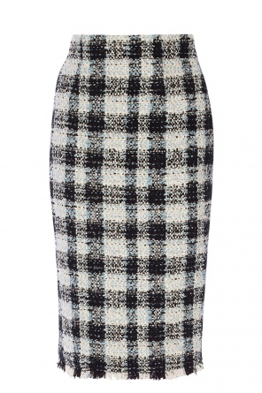 Ribbed check skirt od Alexander McQueen