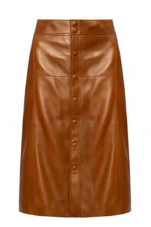 Leather skirt od Saint Laurent