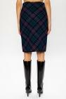 Saint Laurent Checked skirt