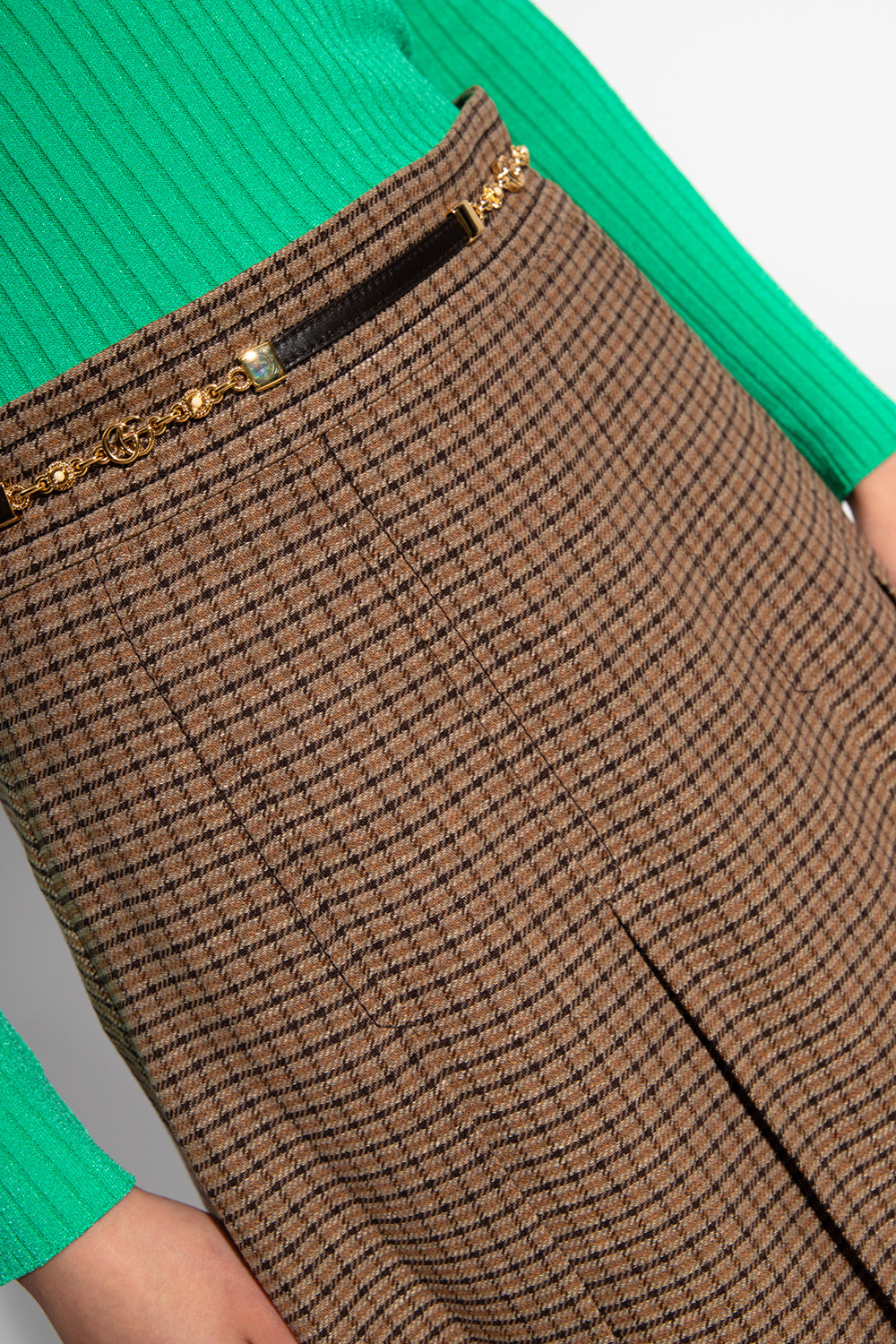 Gucci Checked skirt
