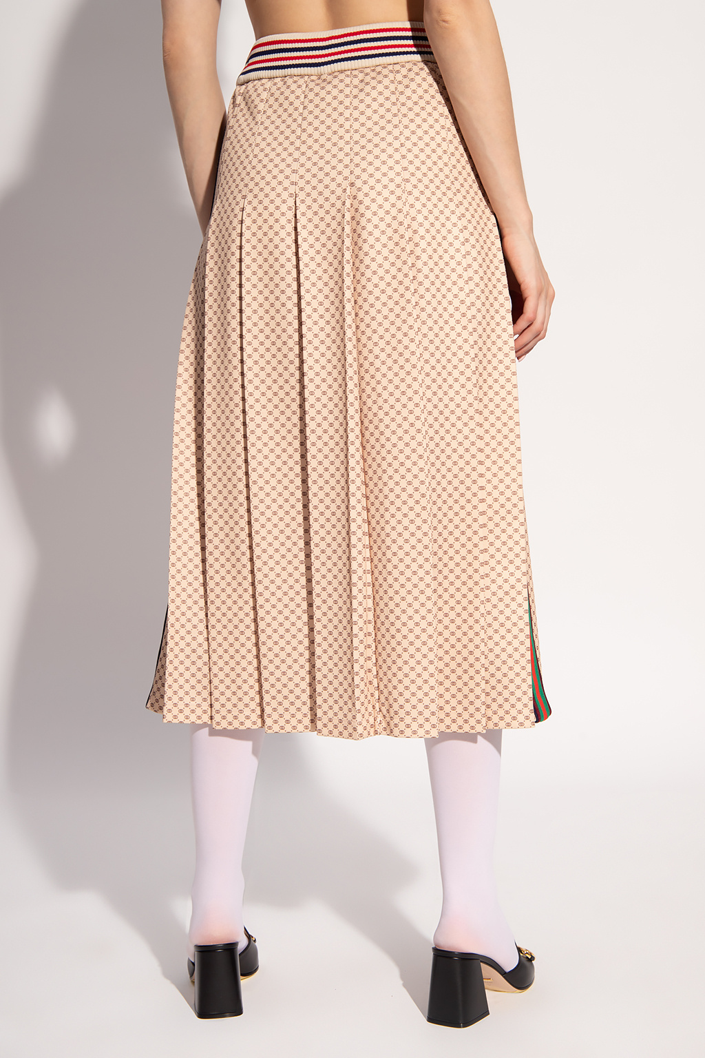 Gucci Pleated skirt with logo