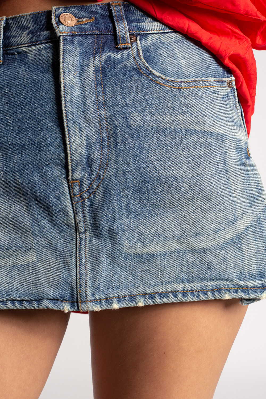 Balenciaga Denim skirt with shorts