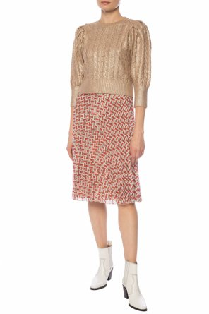 Patterned pleated skirt od Burberry