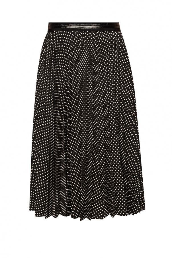 Pleated polka dot skirt od Coach
