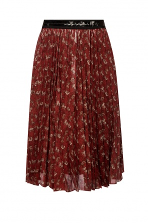 Printed pleated skirt od Coach