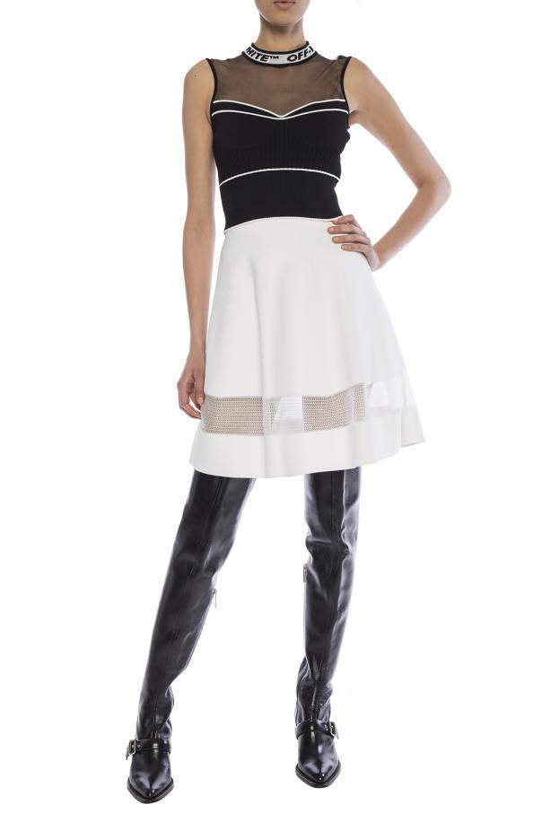 Skirt with decorative insert od Alaia