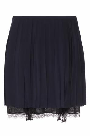 Pleated lace skirt od Versace