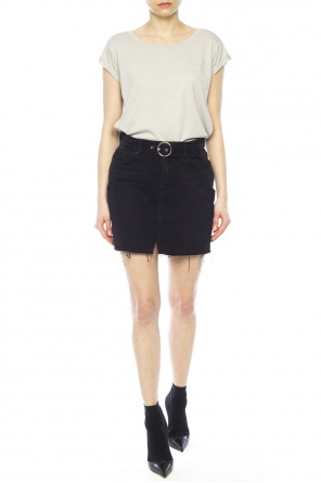 Raw-trimmed denim skirt od AllSaints