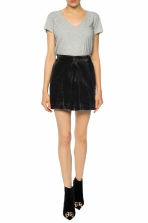 Distressed denim skirt od Givenchy