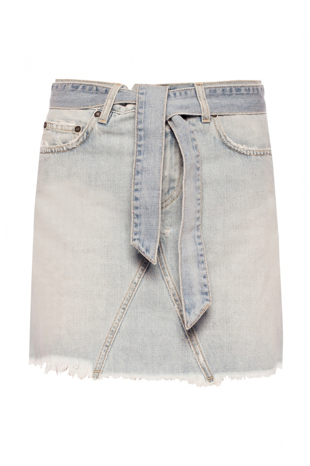 Givenchy Raw edge denim skirt