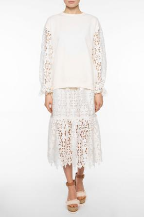 Lace skirt with ruffle od See By Chloe