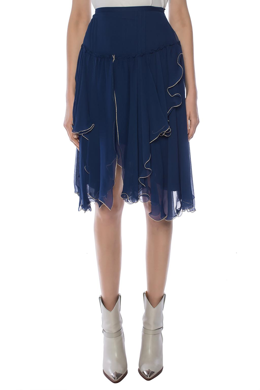 See By Chloe Silk skirt with ruffles