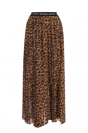 Leopard-printed pleated skirt od Marcelo Burlon