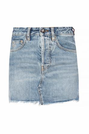 Raw-trimmed denim skirt od Marcelo Burlon