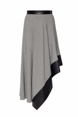 Asymmetrical skirt with logo od Loewe