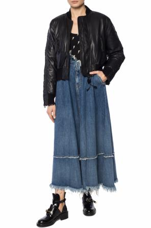 Ruffled denim skirt od Diesel
