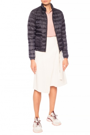Asymmetrical skirt with logo od Moncler
