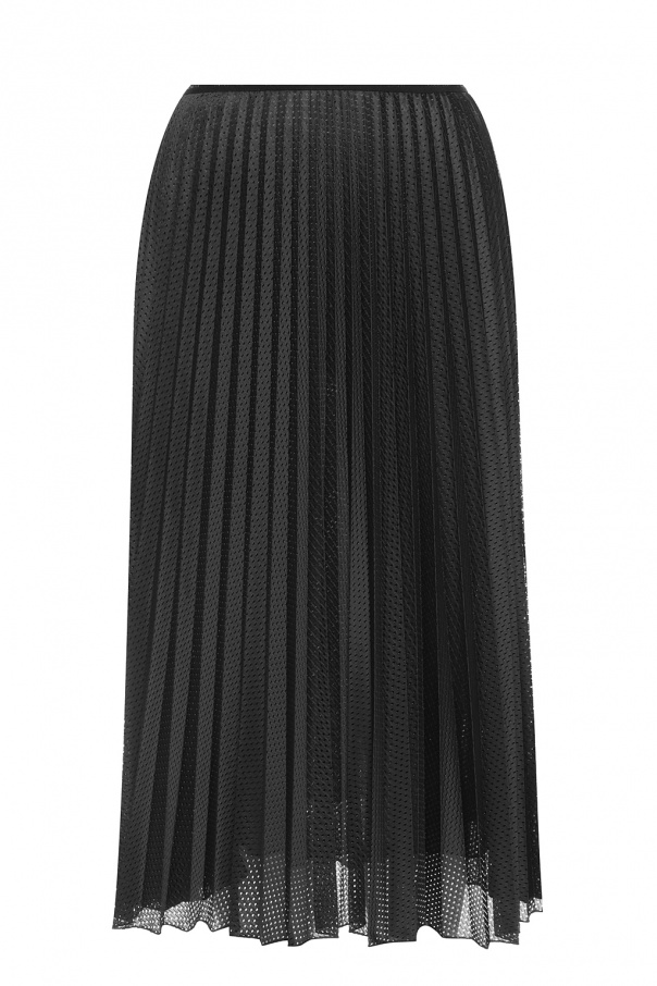 Moncler Double-layered skirt with logo
