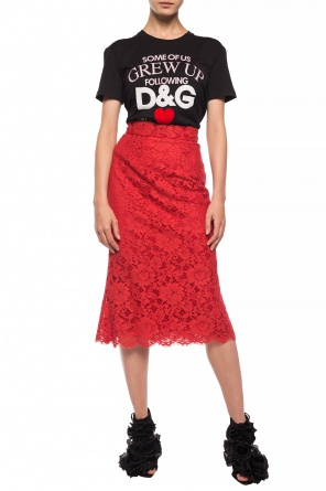 Lace skirt with floral motif od Dolce & Gabbana