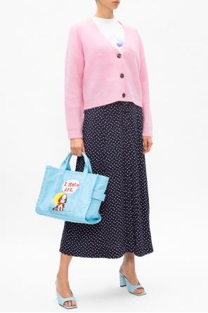 Heart-printed skirt od Ganni
