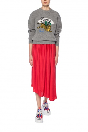 Logo-embroidered skirt od Kenzo