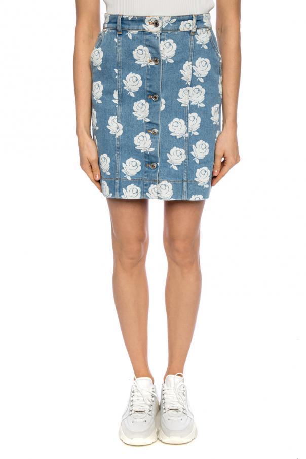 fe4a50e9f4 Floral-printed denim skirt Kenzo - Vitkac shop online
