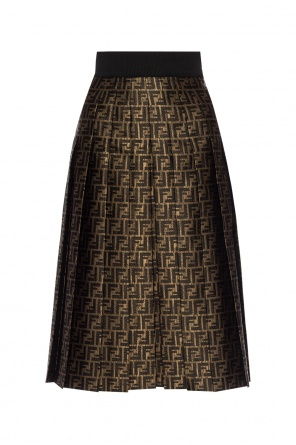 Patterned pleated skirt od Fendi
