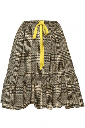 Lacing detail flared skirt od Fendi