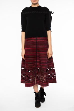 Flared skirt with motifs od Fendi