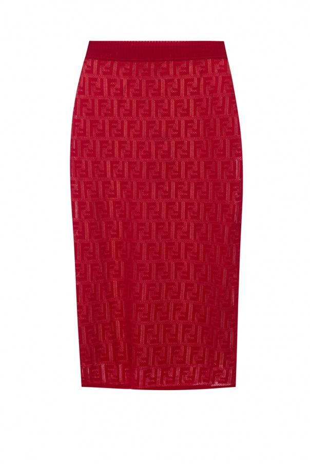 Fendi Embroidered skirt