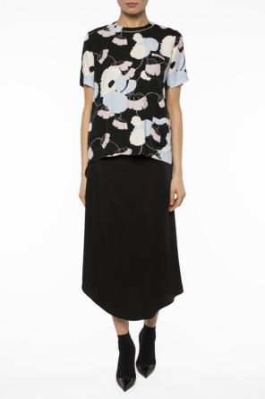 Lacing detail asymmetrical skirt od Marni